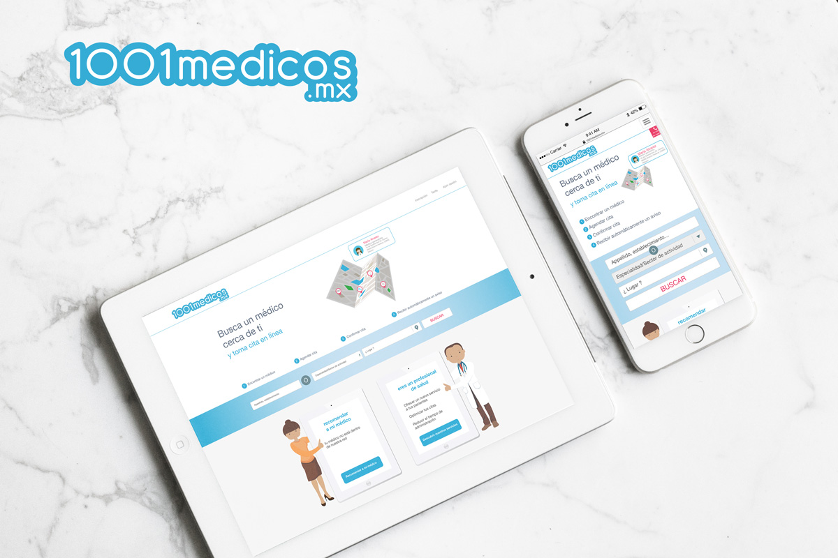 Site internet et app mobile 1001medicos